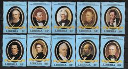 LIBERIA   N°  915/24  * * ( Cote 8.50e )  Presidents Des Etats Unis George Washington - George Washington