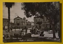 Cartolina Oristano Piazza Roma Chiesa S. Sebastiano 1950 - Oristano