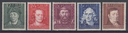 Generalgouvernement 120-124 Kulturträger (II) Kompletter Satz Postfrisch - Besetzungen 1938-45