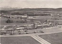 AEROPORTO-AEROPORT-AIRPORT-FLUGHAFEN-AERODROM-=ZURICH KLOTEN=-CARTOLINA  VIAGGIATA IL 21-4-1954 - Aerodromi