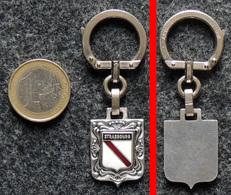 AUGIS Porte-clé Ancien NEUF Ecusson Armoiries De Strasbourg Alsace 67 Bas-Rhin - Portachiavi