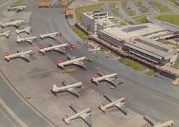 AEROPORTO-AEROPORT-AIRPORT-FLUGHAFEN-AERODROM-=ZURICH =-CARTOLINA VERA FOTOGRAFIA NON  VIAGGIATA - Aerodromi