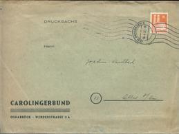 15365 BRD Bauten 6 Pfg EF Carolingerbund Osnabrück 1951 , Bedarfserhaltung. Versand Im Grossbrief. - [7] Federal Republic