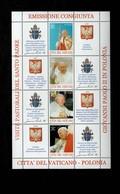 Città Del Vaticano 2004 La Polonia E L'Europa  MNH** Foglietto - 6. 1946-.. Repubblica