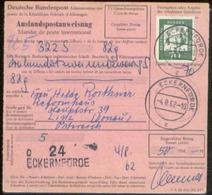 10343 BRD Auslandspostanweisung Eckernförde - Linz 1962 - BRD