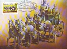 1984 Hungary . Horse - Carte Maximum - VII. World Championships - Paardensport