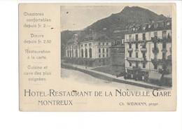 22269 - Montreux Hôtel Restaurant De La Nouvelle Gare + Cachet Verso (format 10 X 15) - VD Vaud