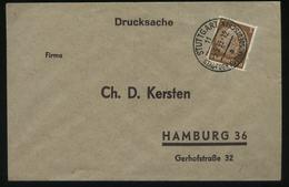 S0320 DR Brief : Gebraucht Stuttgart - Hamburg 1939 , Bedarfserhaltung. - Briefe U. Dokumente