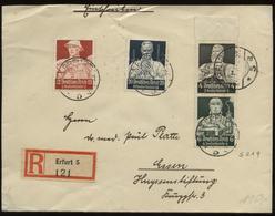 S0984 DR Stände Nr. 984 MiF Sonderbriefmarken Auf R - Brief ,gebraucht Erfurt - Essen 1935 ,Bedarfserhaltung Ohne Inha - Briefe U. Dokumente