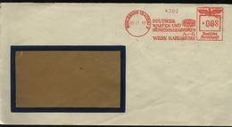 S1002 DR Briefumschlag ,gebraucht Mit Freistempel Deutsche Waffen Und Munitionsfabrik Karlsruhe 1938 ,Bedarfserhaltung - Lettres & Documents