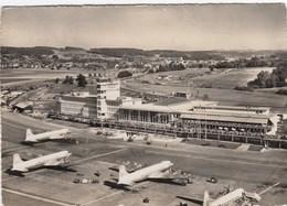 AEROPORTO-AEROPORT-AIRPORT-FLUGHAFEN-AERODROM-=ZURICH KLOTEN =-VIAGGIATA NEL 1965 - Aerodromi