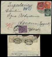 S2200 DR Briefumschlag: Gebraucht Marienburg - Agram Zagreb Kroatien , Jugoslavien Mit Devisenkontrolle Und Postlager - Germany