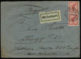 S2277 DR 15 Pfg Adler MeF Luftpost Briefumschlag : Gebraucht Dresden - Leipzig 1926 , Bedarfserhaltung. - Deutschland