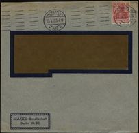 S2559 DR Gemania Firmen Brief Maggi Mit Perfin Firmenlochung M: Gebraucht Berlin 1913 , Bedarfserhaltung , Versand Im - Covers & Documents