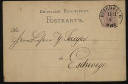S2694 DR Pfennig GS Karte: Gebraucht Bitterfeld - Eschwege 1881, Bedarfserhaltung. - Duitsland
