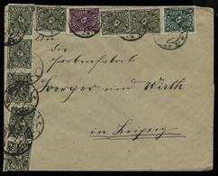 S2773 DR Infla MiF Auf Firmen Briefumschlag : Gebraucht Breslau - Leipzig 1923,Bedarfserhaltung , Die Untere Marke Ist - Lettres & Documents