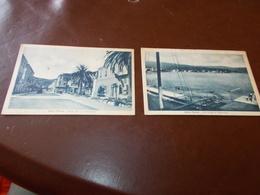 B732  2 Cartoline Diano Marina Cm14x9 Non Viaggiate Macchioline Umido - Italia