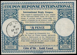 GOLD COAST / GHANA Lo15A 9 / 8 PENCE International Reply Coupon Reponse IAS IRC Antwortschein o HO 'G' GHANA 16.5.58 - Goldküste (...-1957)