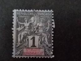 France (ex-colonies & Protectorats) > Madagascar - Sainte-Marie (1894-1898> Oblitérés N° 1 - Oblitérés