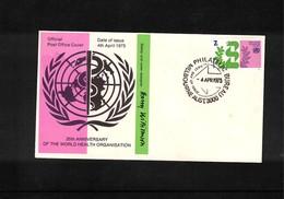 Australia 1973 World Health Organisation FDC - Medizin