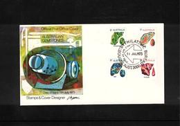 Australia 1973 Australian Gemstones FDC - Mineralien