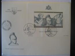 San Marino- FDC Beleg Mit Block 8 2000 Todestag Von Vergil Mi. 1233-1235 - Lettres & Documents