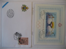 San Marino- FDC Block 9 Olympia Los Angeles Mi. 1298-1299, FDC Beleg 100 Jahre Gazzetta Dello Sport Mi. 1675 - Lettres & Documents