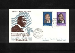St. Lucia 1968 Dr.Martin Luther King FDC - Martin Luther King