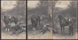 3 Verschiedene Ansichtskarten Soldaten 1. WK Gestempelt Limburg, Dierdorf 1914 - Sin Clasificación