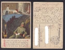 Ansichtskarte Soldatenkarte I. WK W. Hauff Gestempelt Darmstadt 1916 - Ansichtskarten
