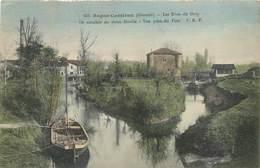 CPA 33 Gironde Bagas Camiran Ile Rattachée Au Vieux Moulin Vue Prise Du Pont - Frankrijk