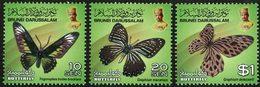 BRUNEI Papillons (10S-20S-1$) 3v 2013 Neuf ** MNH - Brunei (1984-...)