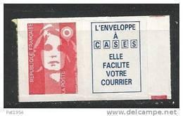 France 1993 Timbre Adhésif Neuf Avec Vignette  Se Tenant ** Issus De Carnet N° 2807a  Cote 3 Euros - Unused Stamps