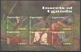 N164 UGANDA FAUNA INSECTS OF UGANDA BUTTERFLIES PAPILIO 1KB MNH - Insects