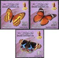 BRUNEI Courants-Papillons IV 3v 2014 Neuf ** MNH - Brunei (1984-...)