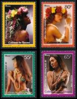 POLYNESIE 1998 - Yv. 566 567 568 Et 569 **   Faciale= 2,27 EUR - Colliers Coquillages Et Fleurs (4 Val.)  ..Réf.POL24128 - Französisch-Polynesien