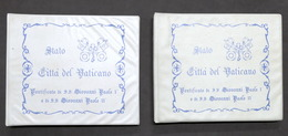 Filatelia Vaticano- 2 Raccoglitori - Giovanni Paolo I E Giovanni Paolo II - Cataloghi