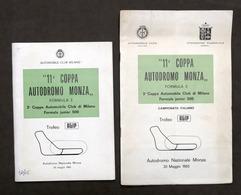 11^ Coppa Autodromo Monza - Formula 3 - Trofeo Agip - Maggio 1965 - Regolamento - Books, Magazines, Comics