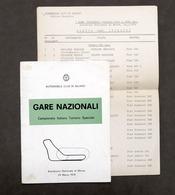 Gare Nazionali Campionato Turismo - Autodromo Di Monza - 1974 - Regolamento - Books, Magazines, Comics