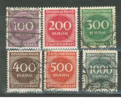 Duitse Rijk / Deutsches Reich 268 T/m 273 Used (1922) - Gebraucht