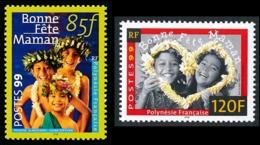 POLYNESIE 1999 - Yv. 586 Et 587 **   Faciale= 1,72 EUR - Bonne Fête Maman  (2 Val.)  ..Réf.POL24135 - Französisch-Polynesien