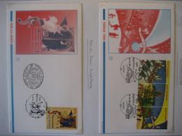 San Marino- FDC Beleg Mit Dreierstreifen Weihnachten Mi. 1636-1638, FDC Beleg  Neri Da Rimini Ausstellung Mi. 1635 - Storia Postale