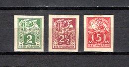 Estonia   1922-25  .-  Y&T  Nº    51-52-54   (  No Dentados  ) - Estonia