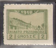 7. Poland 1918 Feb Przdedborz Local Issue Mint 2Gr Perforation Variety - ....-1919 Übergangsregierung
