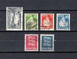 Estonia   1933-35  .-  Y&T  Nº    121-122/124-129/130 - Estonia