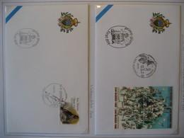 San Marino- FDC Beleg Alpine WM Sestriere Mi. 1700-1703, FDC Beleg  Weihnachten Mi. 1929 - Storia Postale