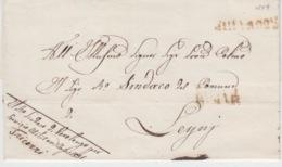 USED LETTER 1849 VEROLENGO LEYNI TORINO - ...-1850 Voorfilatelie