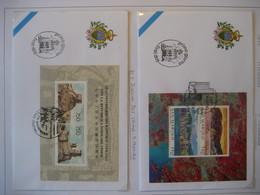 San Marino- FDC Beleg Hongkong Mi. 1698-1699 Block 22, FDC Beleg  Beziehungen Mi. 1652-1653 Block 20 - Storia Postale