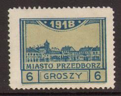 10. Poland 1918 Feb Przdedborz Local Issue Mint 6Gr Type III - ....-1919 Provisional Government