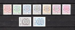 Estonia   1991  .-  Y&T  Nº    179/187 - Estonia